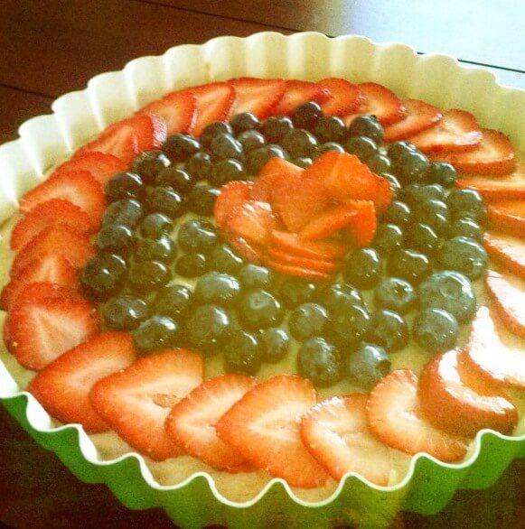 raw vegan fruit tart