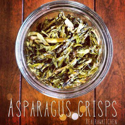raw asparagus crisps