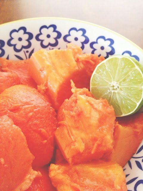raw papaya and lime