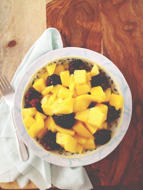 mango blackberry fruit bowl