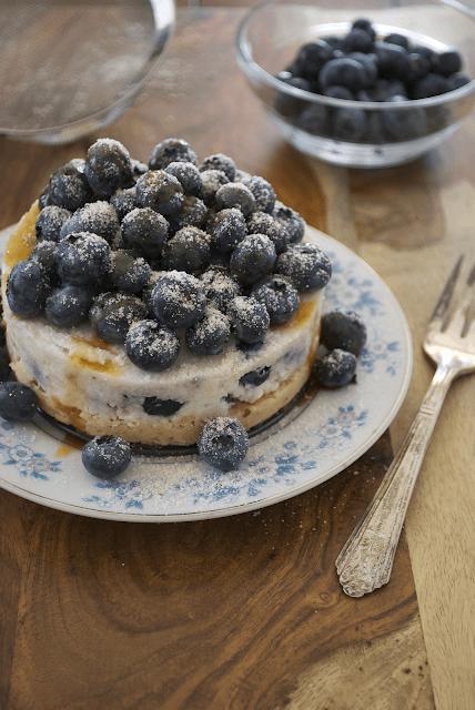 raw blueberry coconut cake