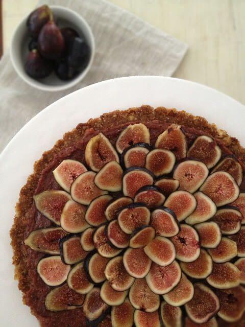 raw fig tart